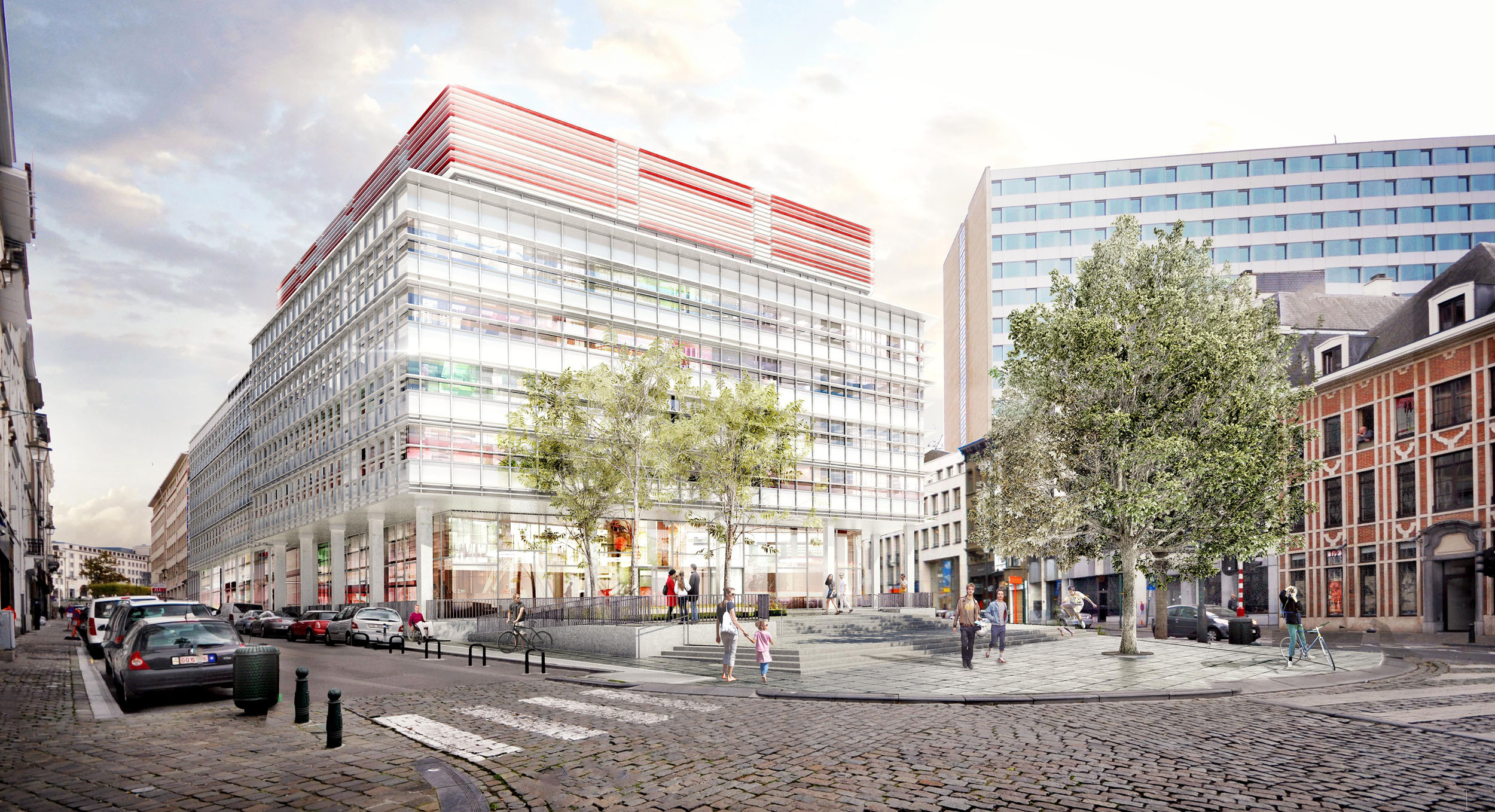 Rnovation dun ensemble dimmeubles de bureaux et du parvis for Bureau d architecture